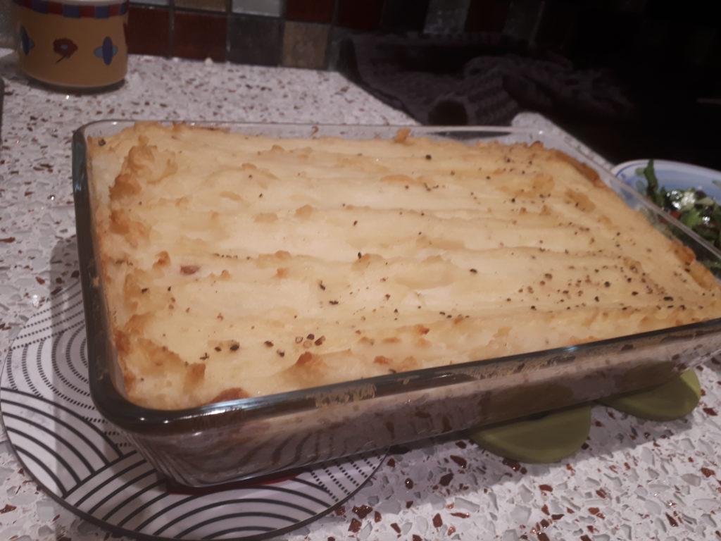 ground beef style lentil cottage pie