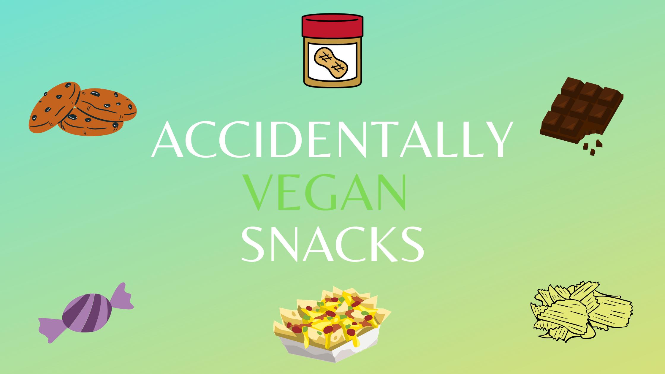 accidentally vegan snacks uk blog post cover image