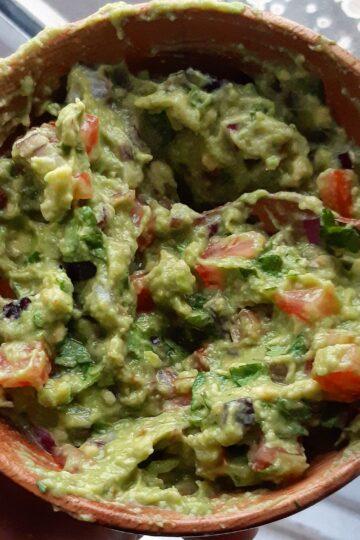 veganised guacamole