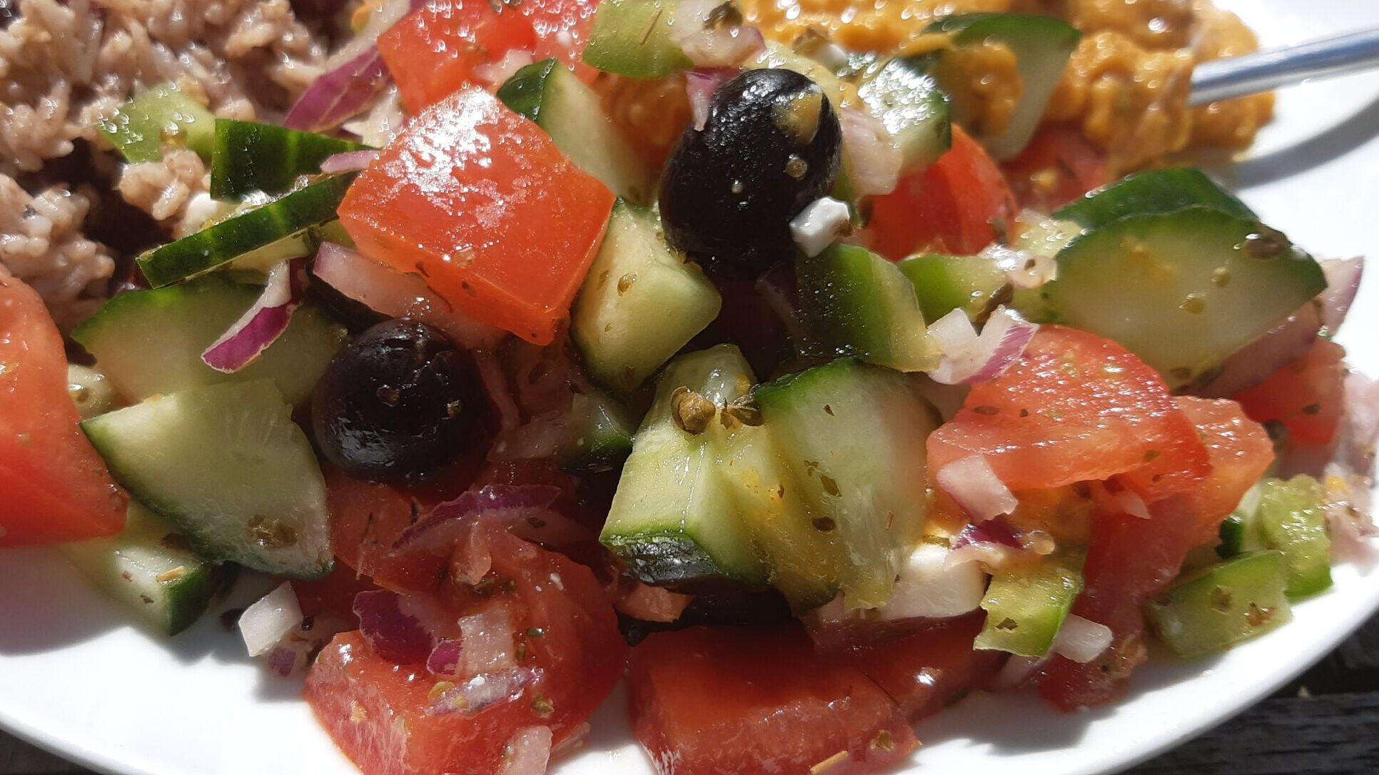 veganised greek salad recipe