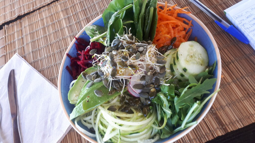 plant based raw salad bowl