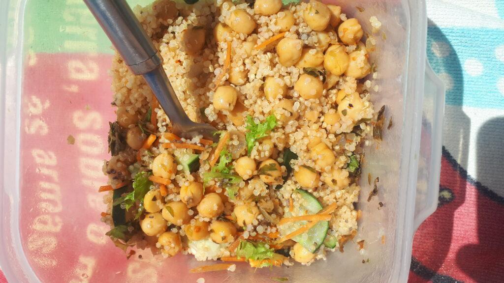 plant based chickpea quinoa
