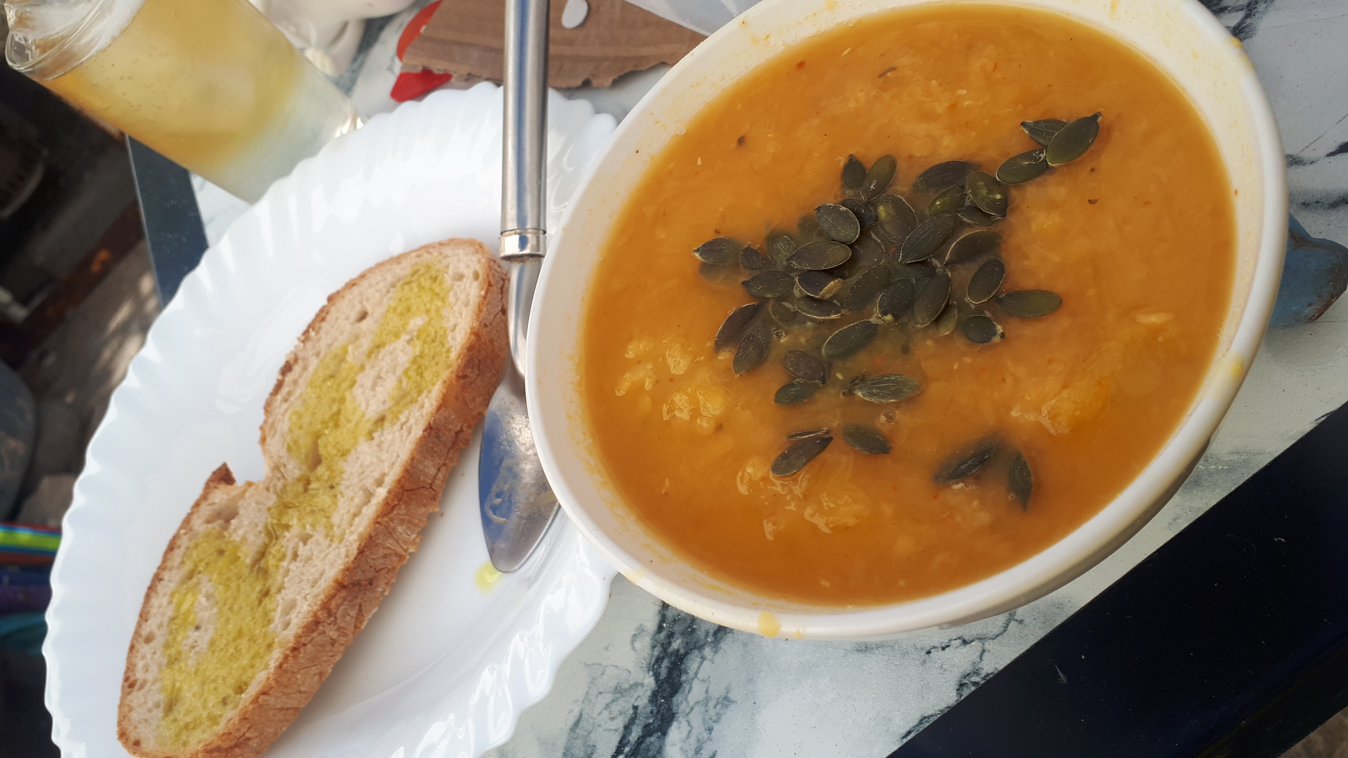 vegan red lentil pumpkin soup recipe