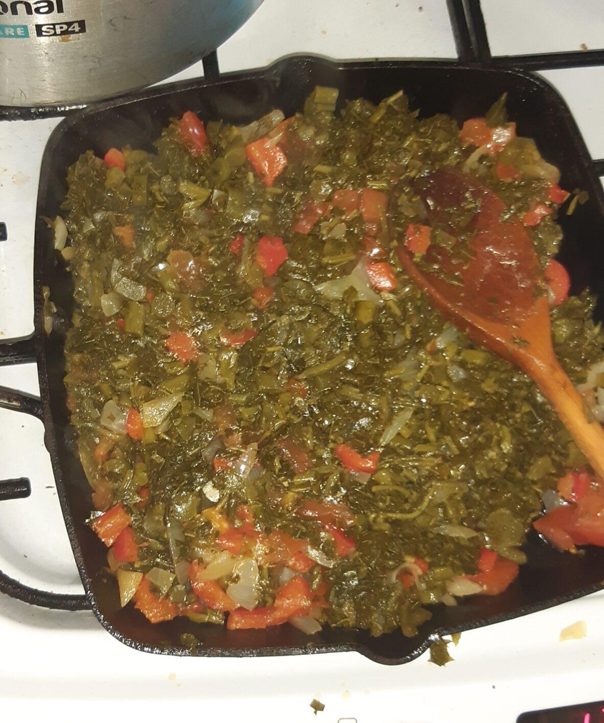Jamaican ital callaloo