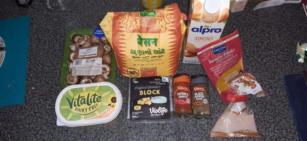 vegan gram flour omelette recipe