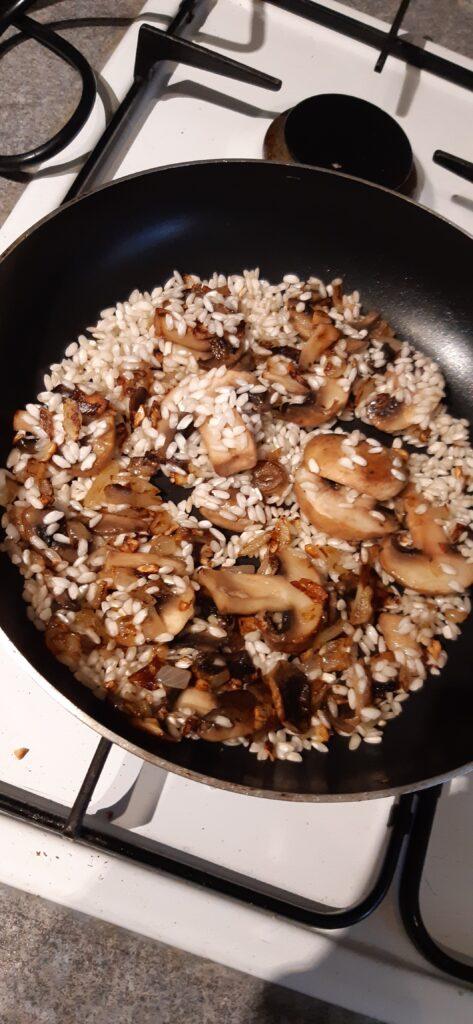 risotto mushroom vegan ingredients