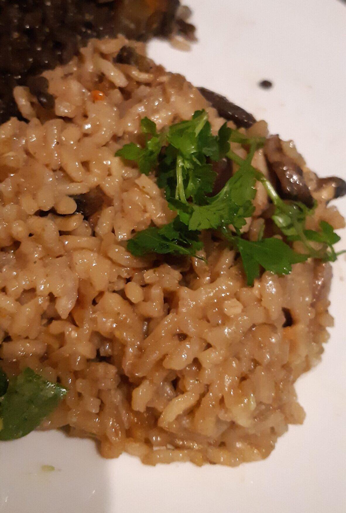 veganised creamy mushroom risotto