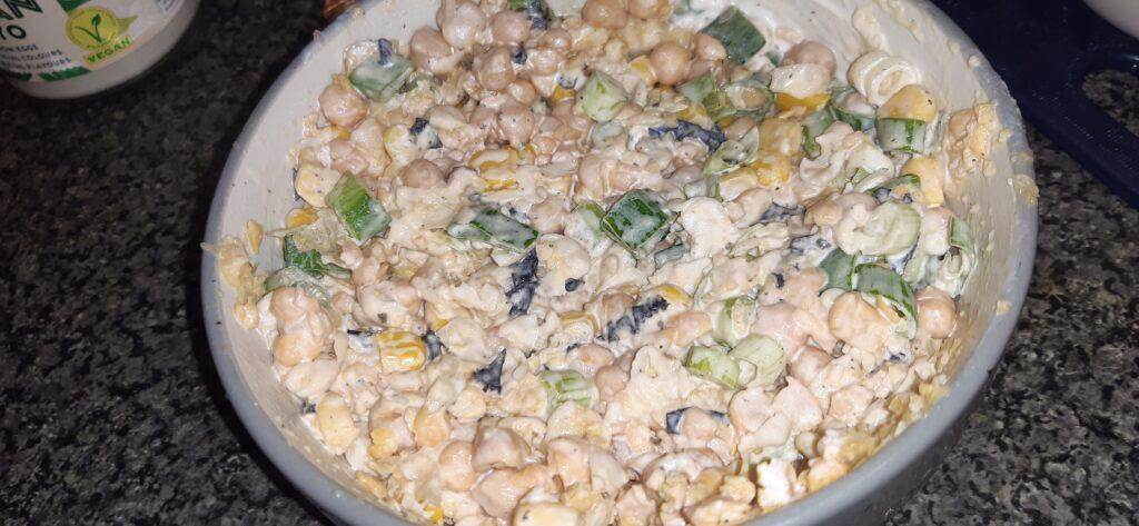 tuna mayo sweetcorn vegan