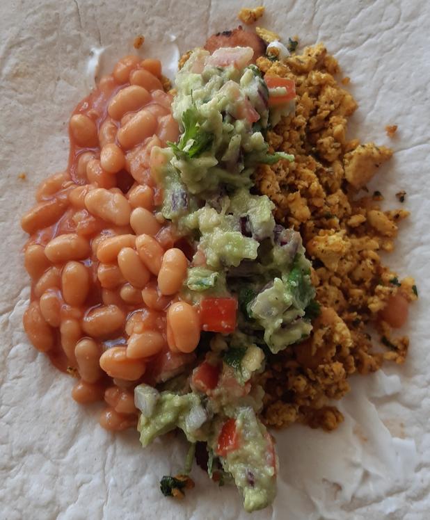 Open breakfast wrap vegan