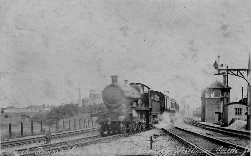 00246-Cornish-Riviera-Express-passing-Westbury-South-junction - Station Road & Ironworks