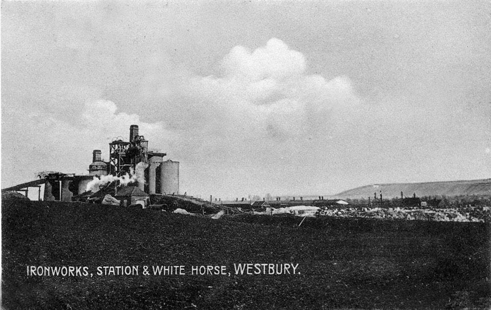 00253-ironworks-and-white-horse - Station Road & Ironworks - Iron Works