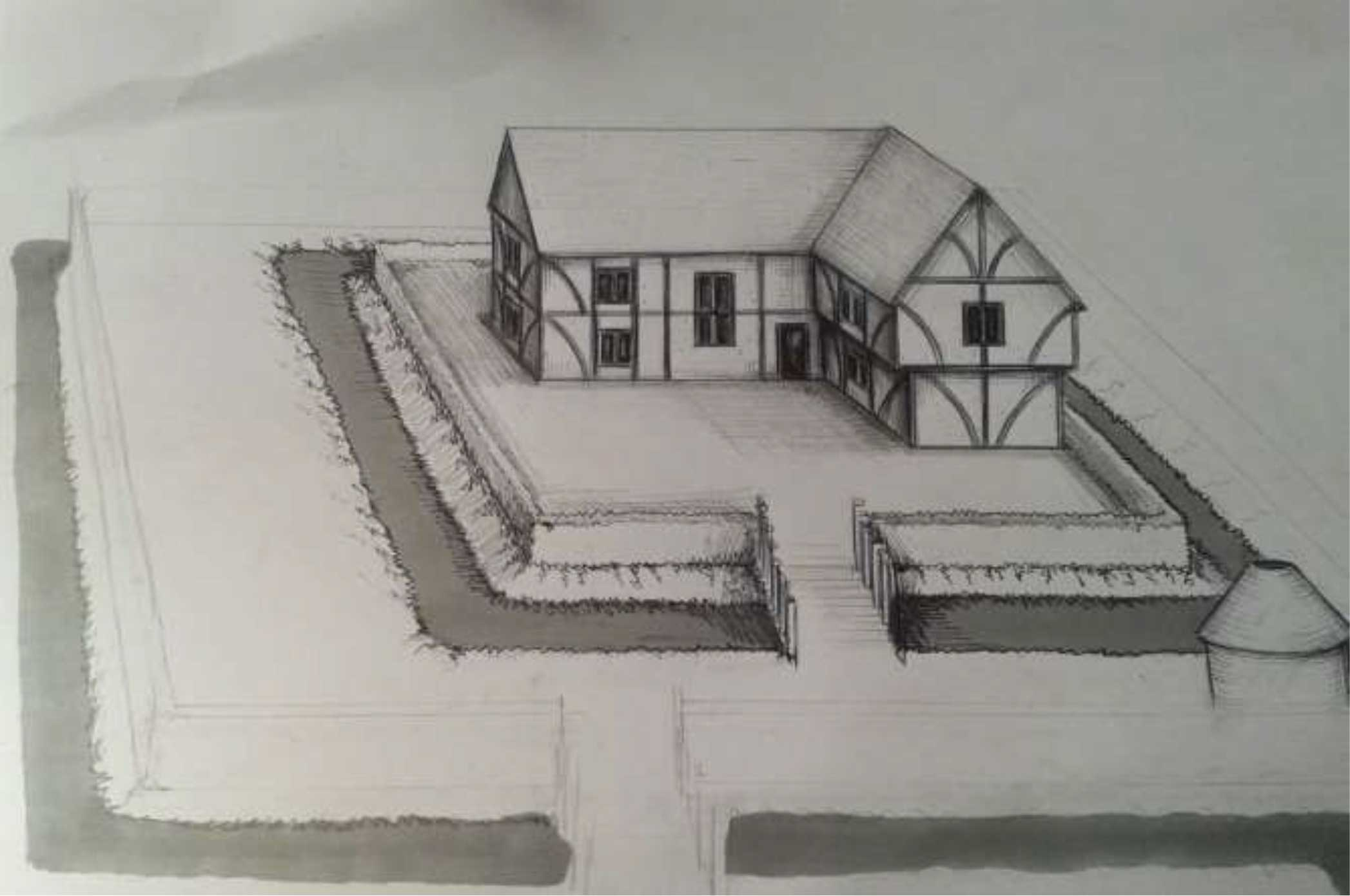 whs_00363-penleigh-moated-site-artist's-impression - Archaeology