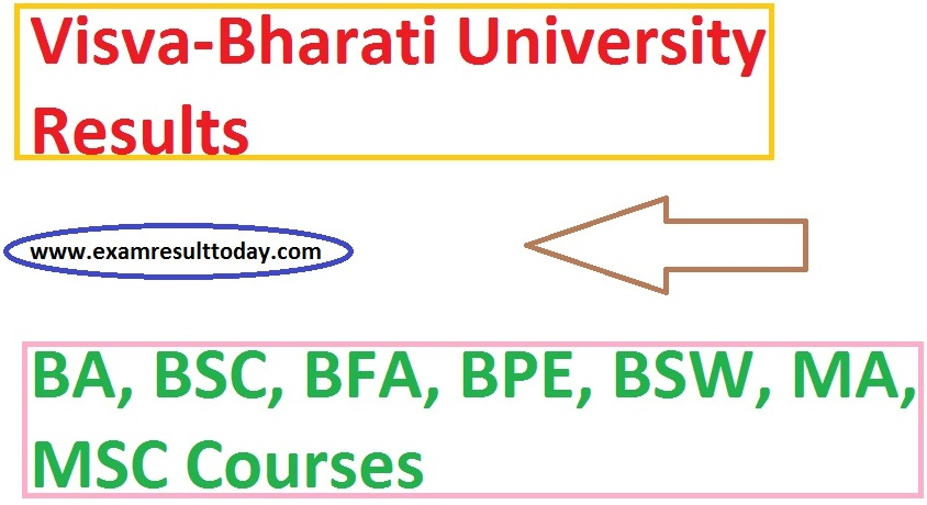 visva bharati university exam results