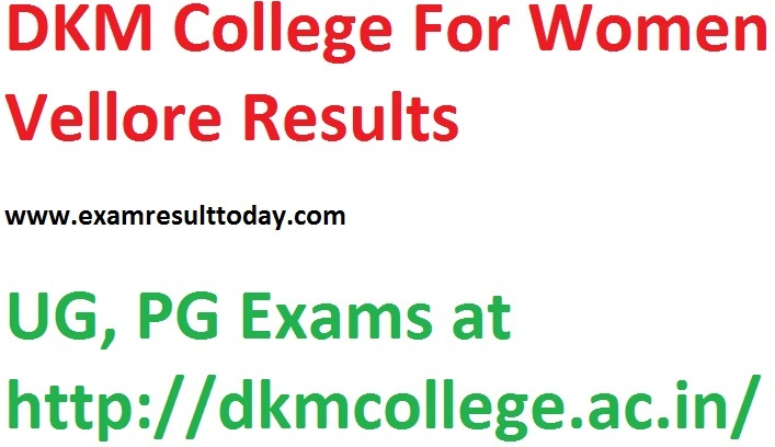 DKM College Result UG PG Exams
