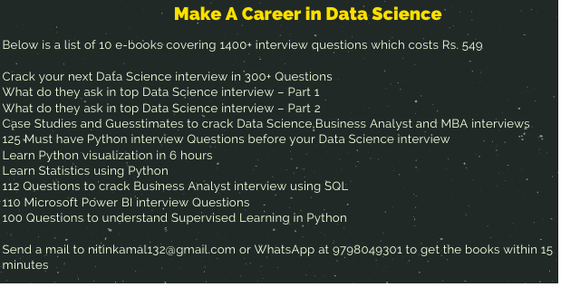 Analytics interview questions