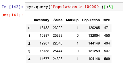 Query in python