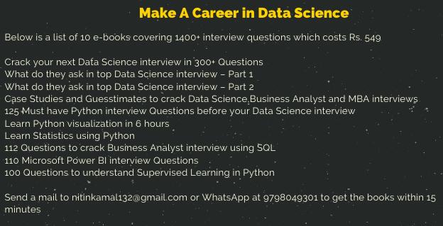Quiz to Crack Data Science Interview