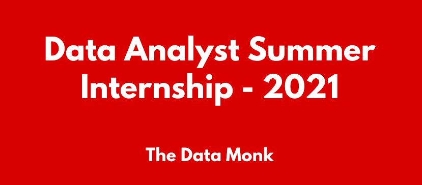 Data Analyst Summer Internship