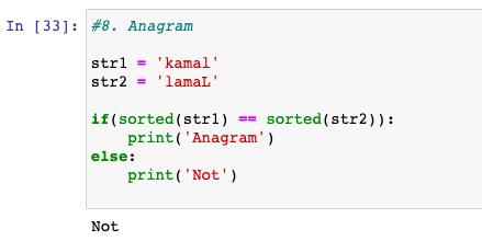 Anagram in python