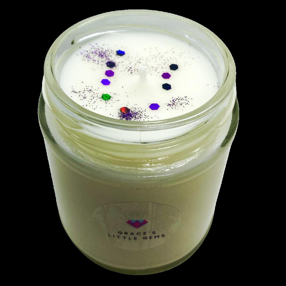 Jam Jar Candle Zoflora Linen Fresh White Background