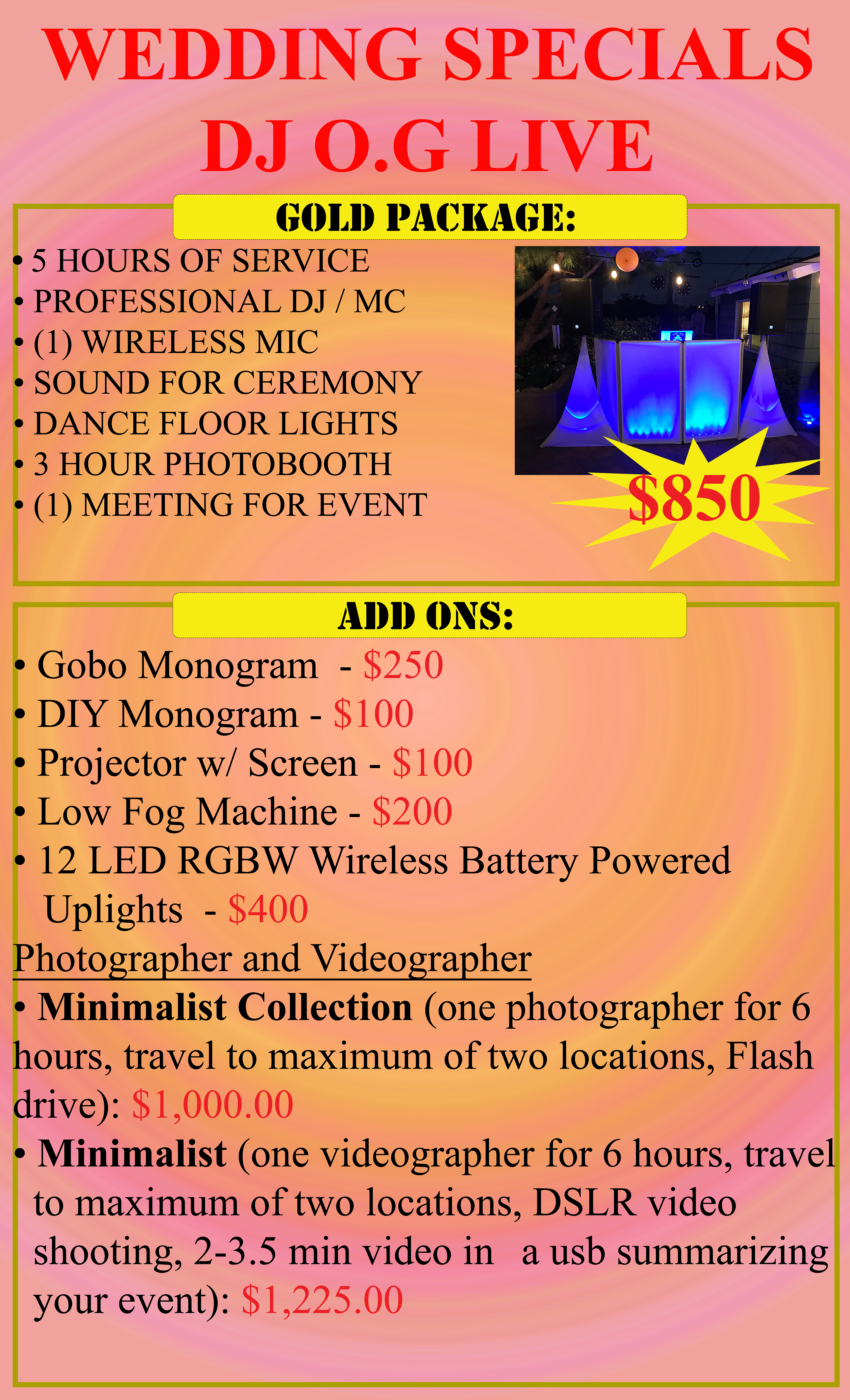 Wedding Special DJ Gold Package copy