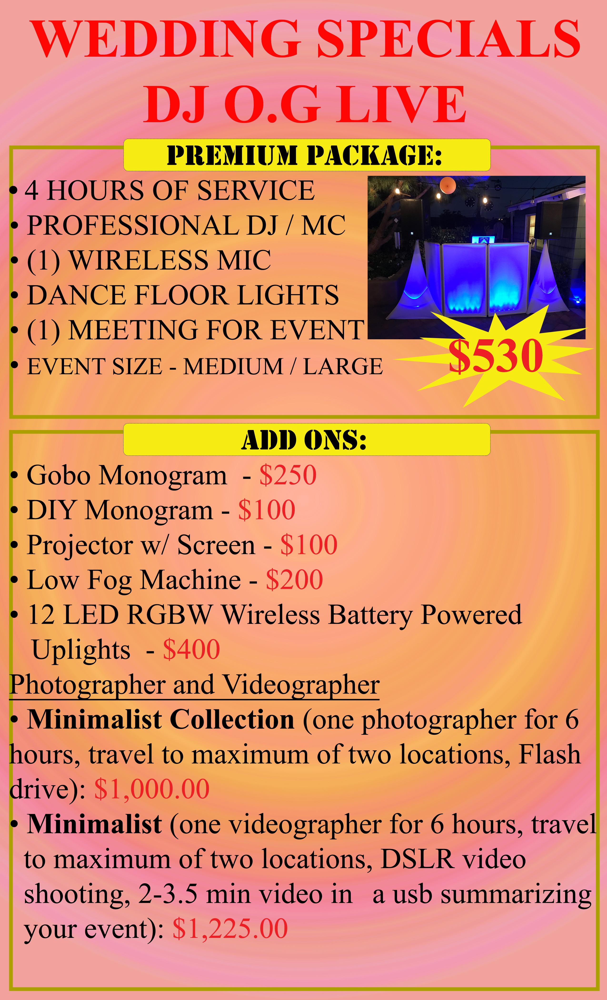 Wedding Special DJ Premium Package copy