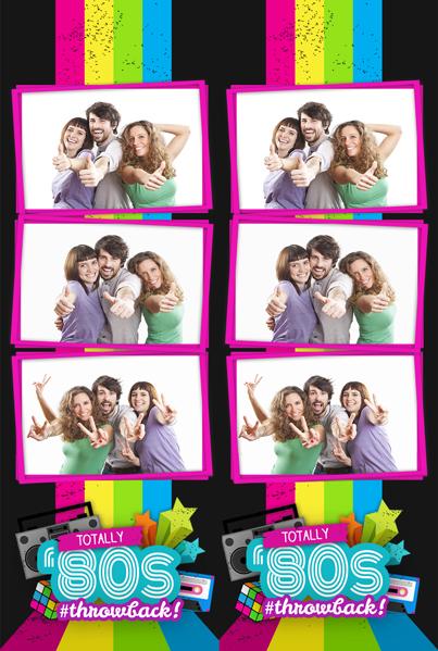 Photobooth Custom Template 80s