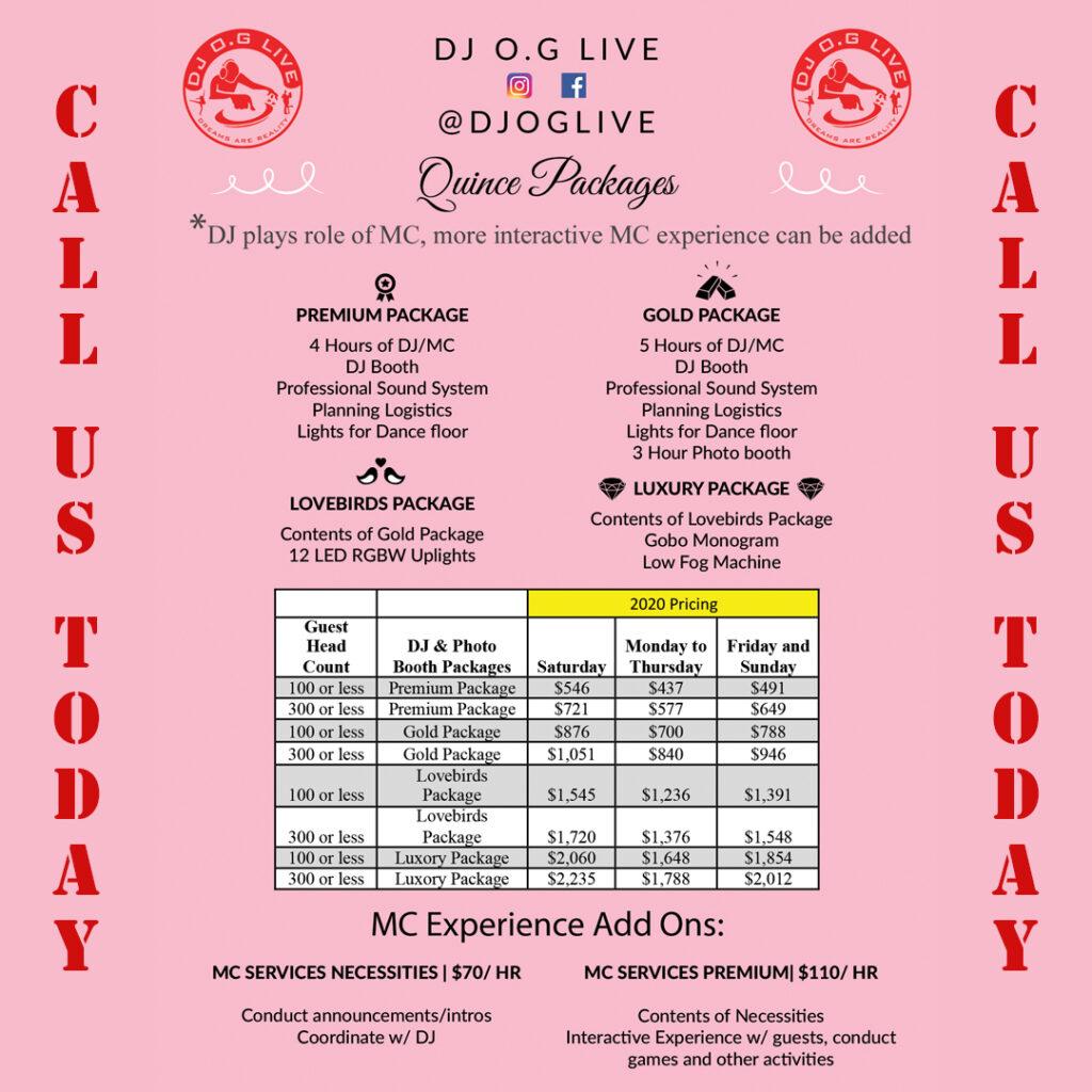 Quince downey ca 90242 Photobooth DJ OG Live