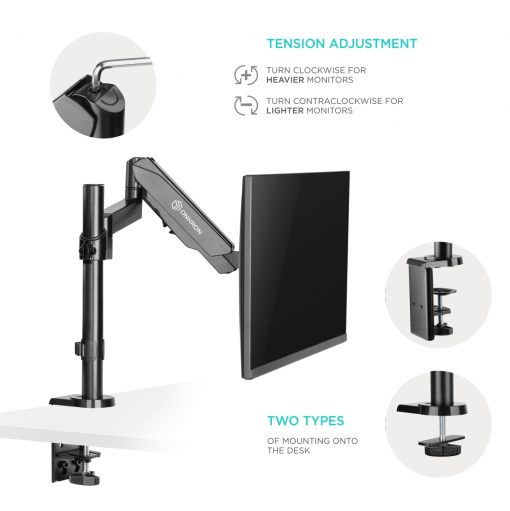"ONKRON Monitor Desk Mount Stand for 13"" - 32 Inch 17.6 lbs G70 Black"