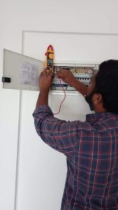 Electrical home inspection.