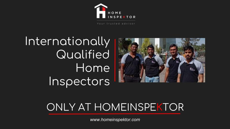 Internationally qualified home inspectors