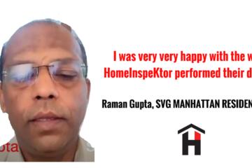 HomeInspeKtor Testimonial Raman Gupta SVG Manhattan Residences