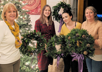 Private Christmas Wreath Making party.