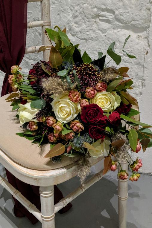 Autumnal bridal bouquet.