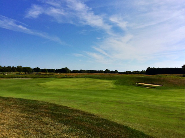 From The Fairway, The Green On The Par-4 15th At Newport National Golf Club Is Somewhat Hidden. (Mike Bailey/Golf Advisor)