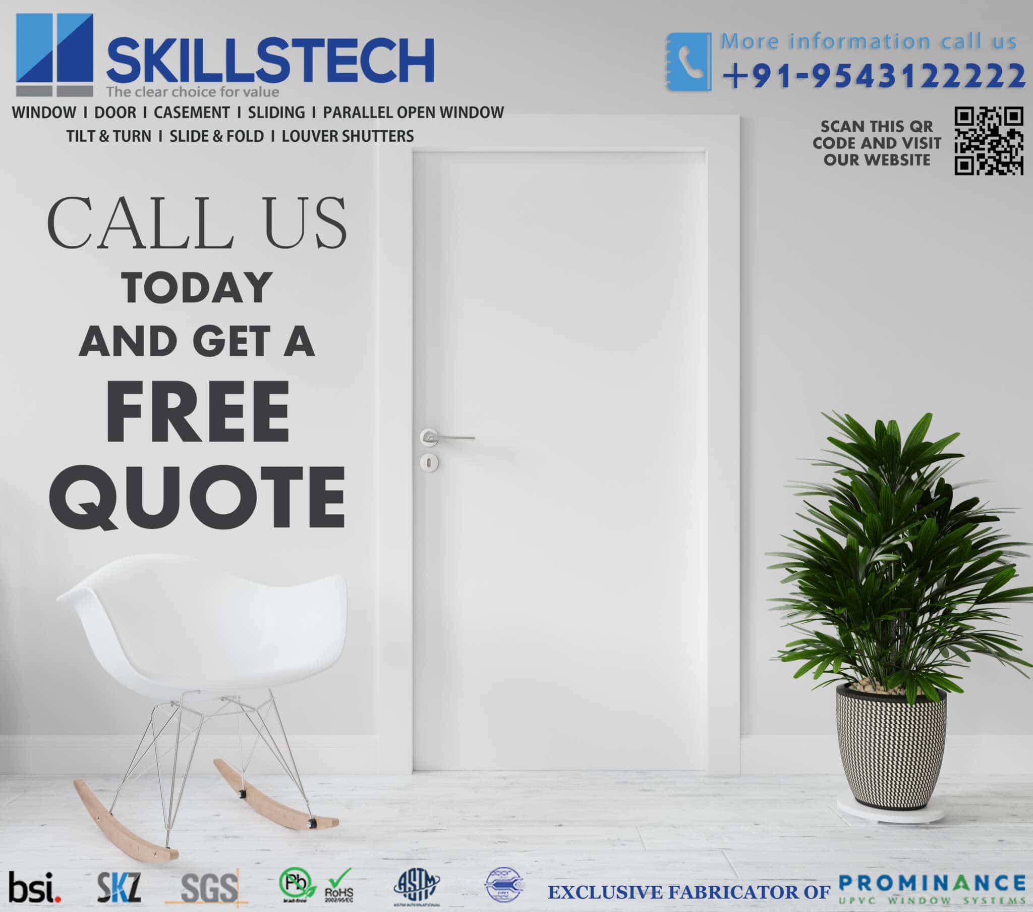 uPVC Windows -SkillsTech Building Solutions Coimbatore
