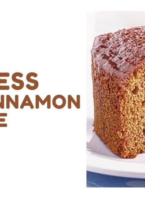 Eggless Honey Cinnamon Cake