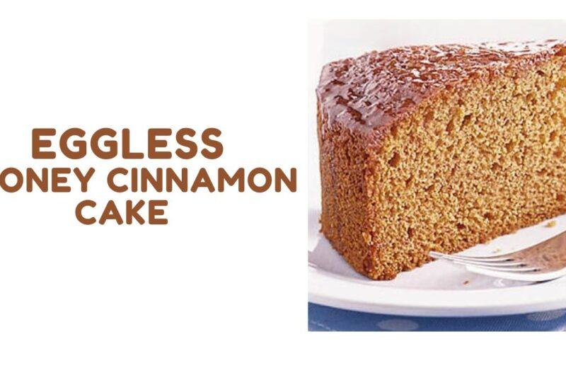 Honey Cinnamon Eggless Cake
