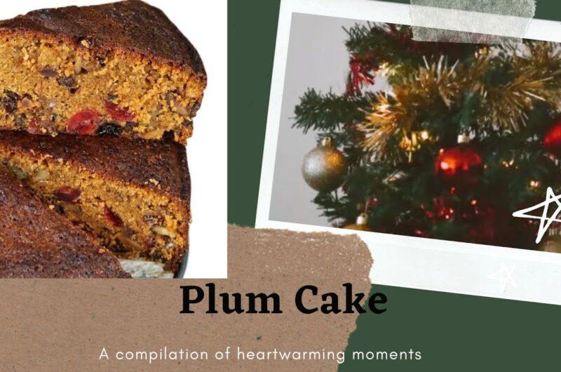 Eggless Plum Cake Recipe | Rich Christmas Cake
