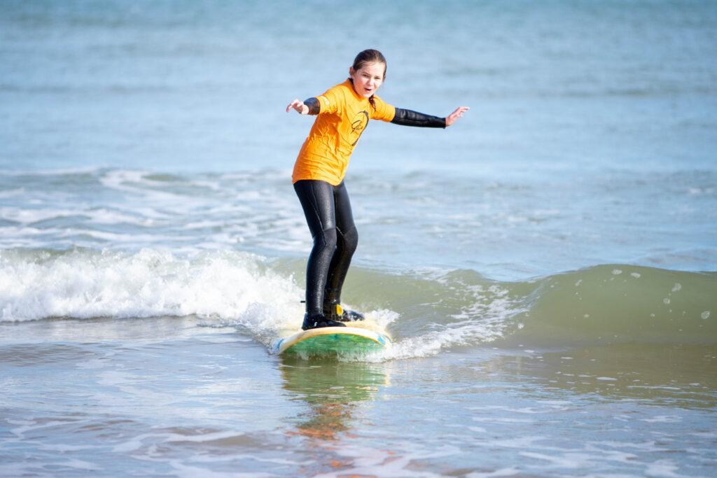 Cromer-Surfing-girl
