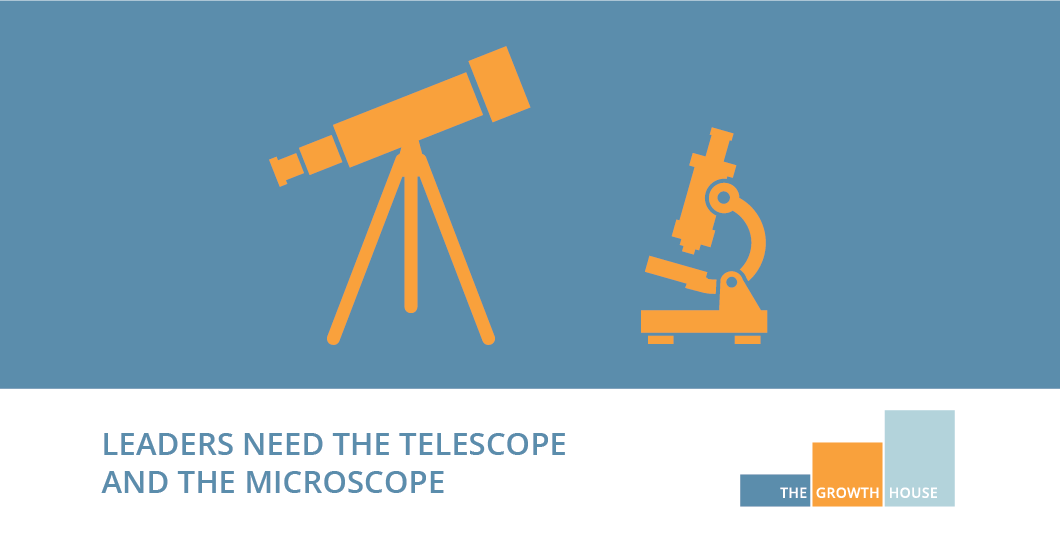 Leaders need the telescope and the microscope