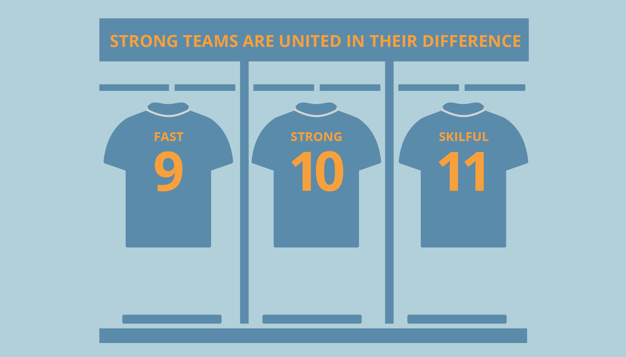 STRONG TEAMS ARE UNITED in THEIR DIFFERENCE