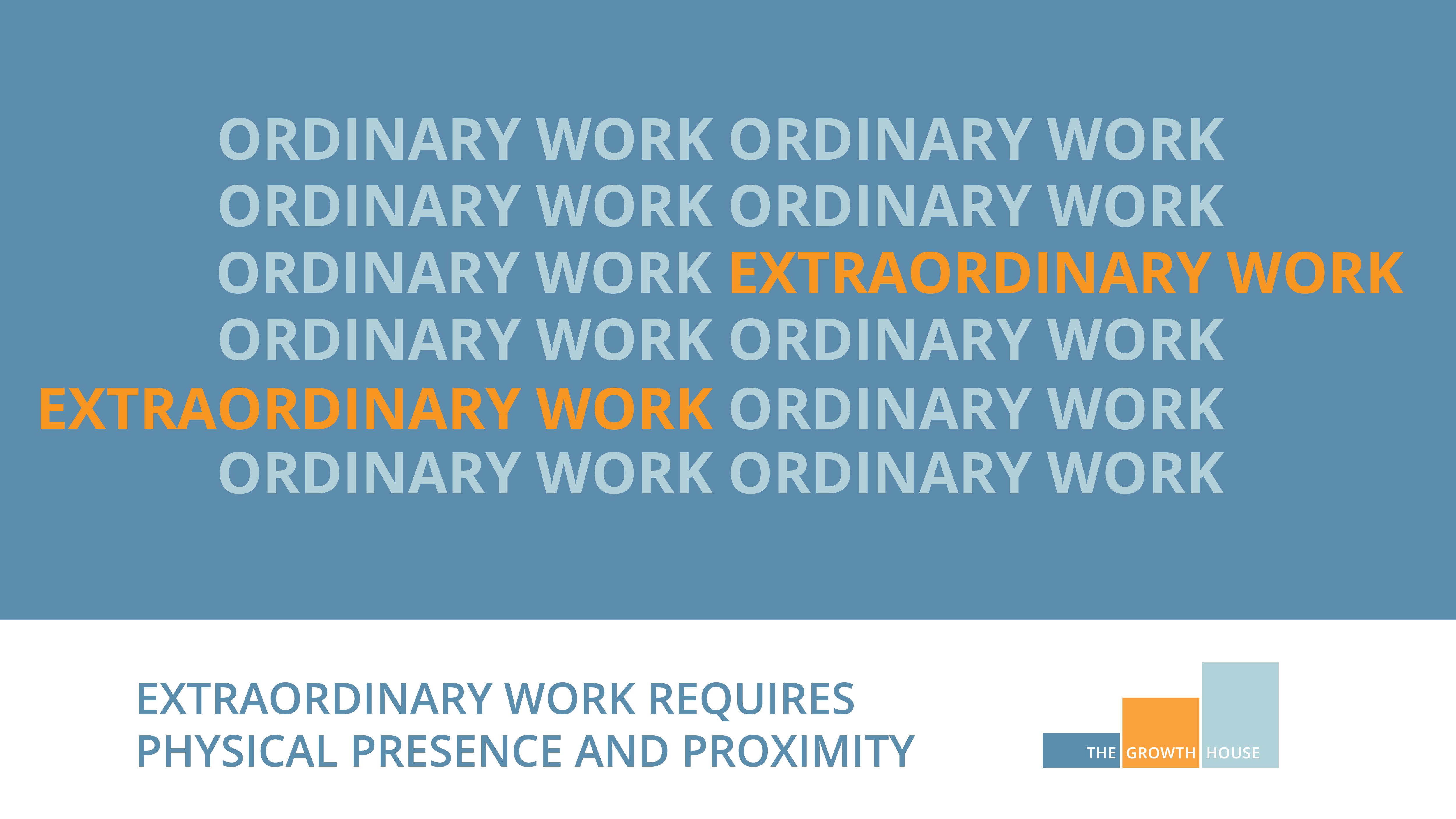 Ordinary and extraordinary work