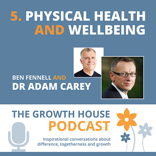 The Growth House Podcast - Physical Health and Wellbeing Dr Adam Carey