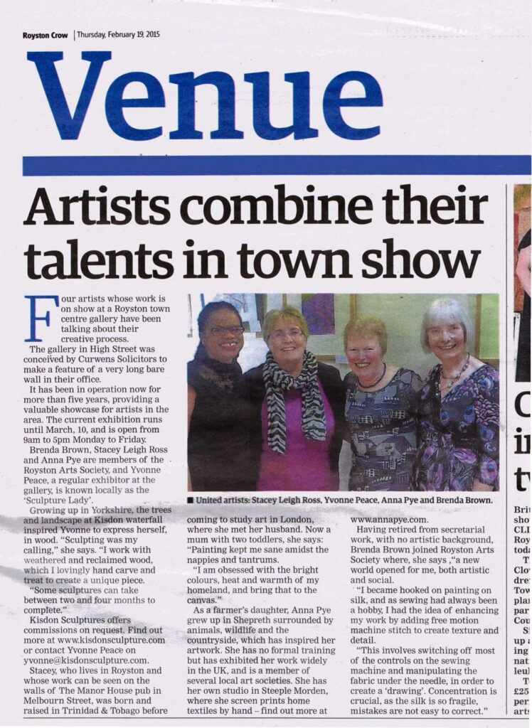 Royston Crow article about LIFE Exhibition, a group exhibition featuring work by Leigh