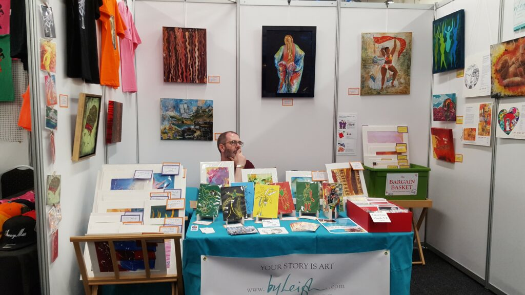 My husband manning the By Leigh booth