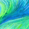 swirling blue, green, teal, turquoise and aquamarine colours looking like water churning under the surface