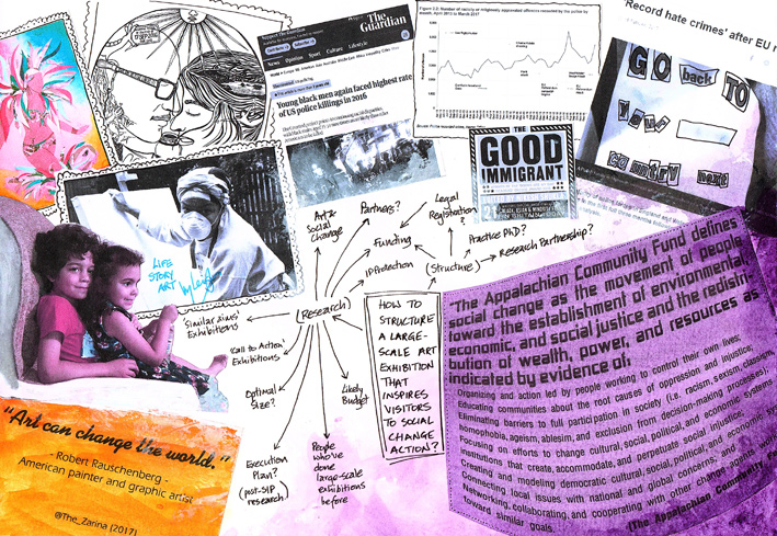 Collage explaining who Stacey Leigh Ross is, why she researched this topic and introducing her research question