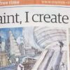 Headline of Royston Crow article featuring By Leigh's Life Story Art for the Royston Arts Festival 2017