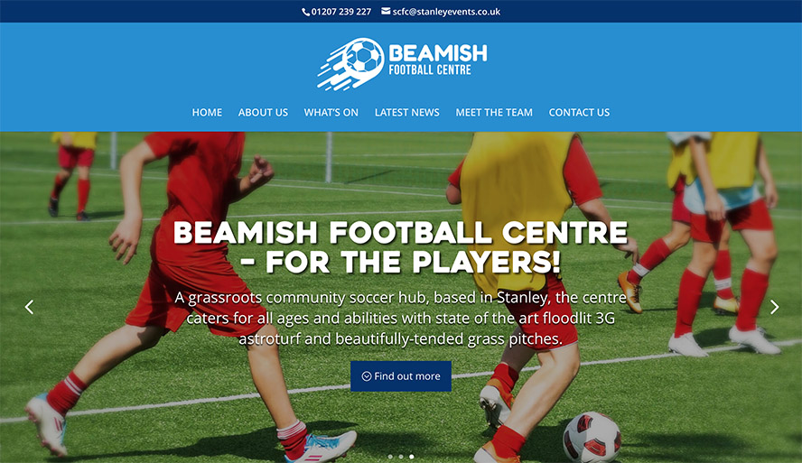 New Beamish Football Centre website